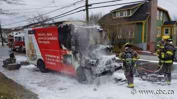 Postal van, packages destroyed in fire in St. John's