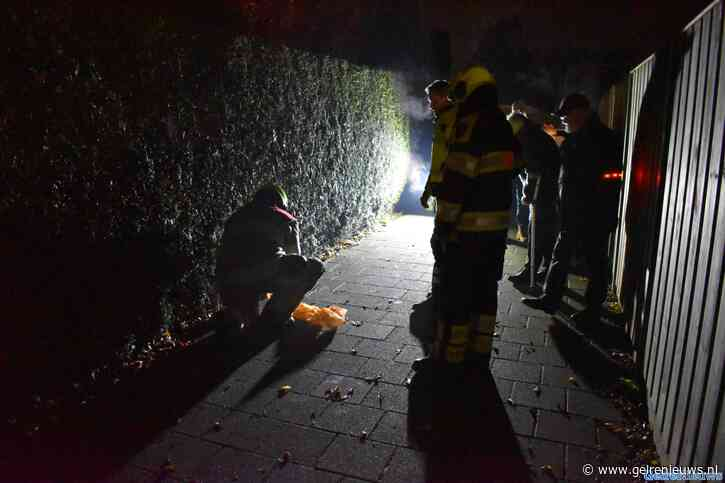 Fles wasbenzine gevonden onder brandende conifeer in Nijmegen
