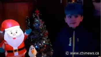 Wish granted: House wrapped in Christmas lights for boy fighting cancer