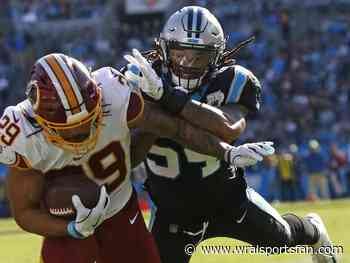 Guice, Peterson run over Panthers, Redskins win 29-21