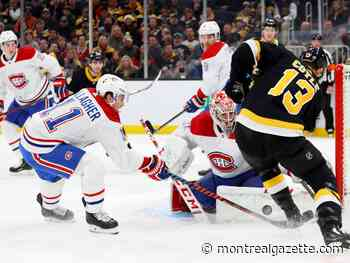 Canadiens run losing streak to eight games after taking early lead against Bruins