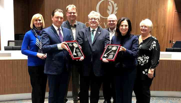 Key to the Town of Oakville presented to each Oakville MPPs