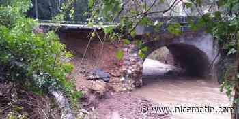 Un pont s'effondre partiellement entre le Var et les Alpes-Maritimes
