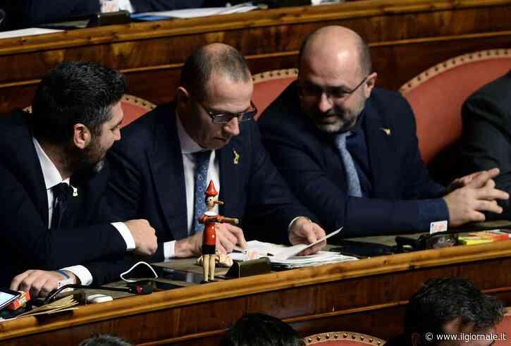 """In Senato spunta Pinocchio: """"Conte burattino"""". Casellati sospende seduta"""