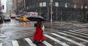 N.Y.C. Weather Updates: 'Sloppy Rush Hour' Ahead as Rain and Snow Pelt Region