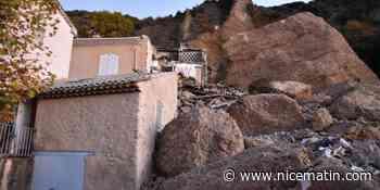 """Les incroyables photos de l'écroulement d'un rocher des """"Pénitents"""" des Mées sur des maisons"""