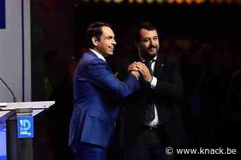Salvini ontvangen als een rockster bij Vlaams Belang in Antwerpen