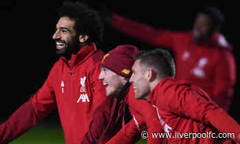 Training photos: Liverpool prepare for Merseyside derby at Melwood