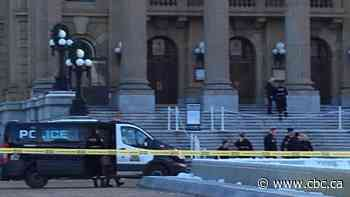 Police respond to death on steps of Alberta Legislature