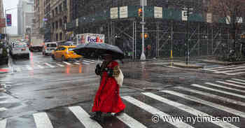 N.Y.C. Weather Updates: Snow Causes 'Sloppy Rush Hour'