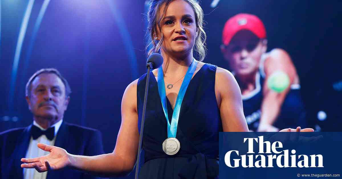 'I'm extremely fortunate': Ashleigh Barty wins Newcombe medal yet again