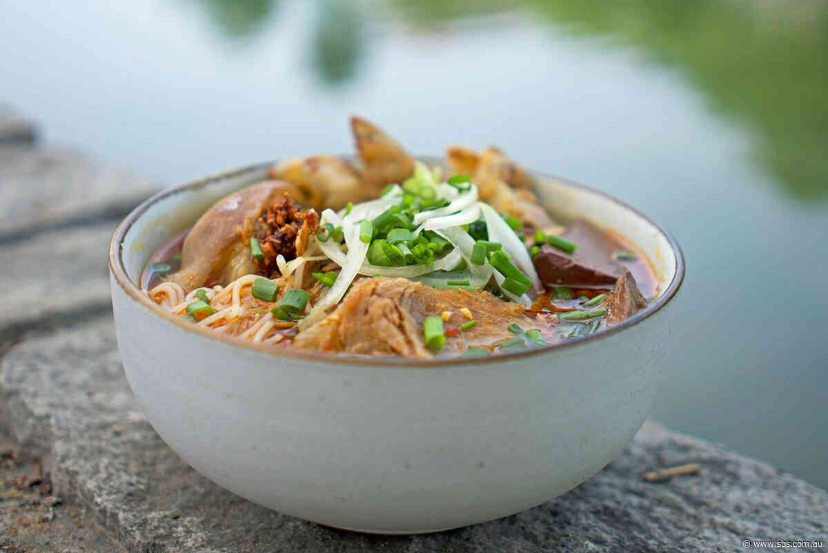 Hue beef noodle soup (Bún bò Huế)