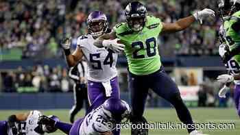 Seahawks surge into second half lead against Vikings
