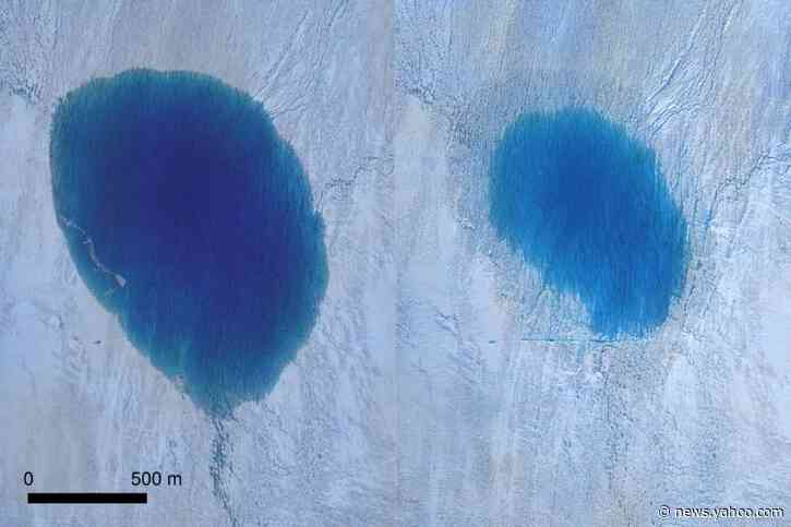 Drones show Greenland ice sheet fracturing in real time