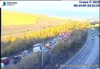 Motorcyclist in hospital as crash causes 10-mile queues
