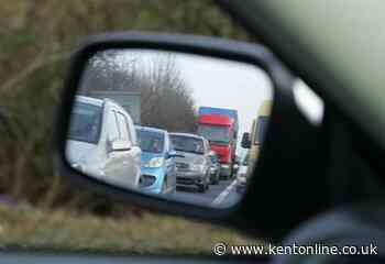 Four-car crash on M2