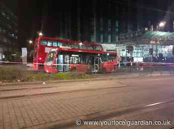Pensioner in critical condition after being hit by a bus in Croydon town centre