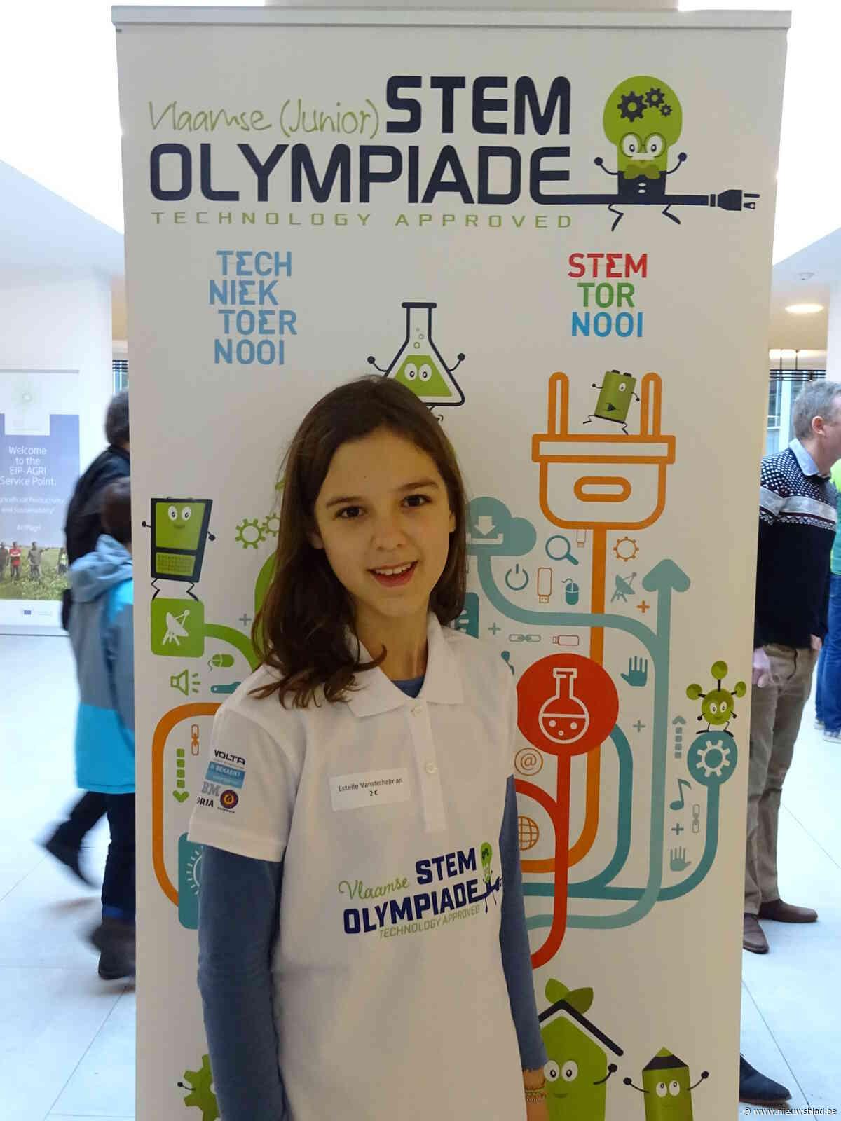 Brons voor Estelle Vanstechelman op Vlaamse Junior STEM Olympiade