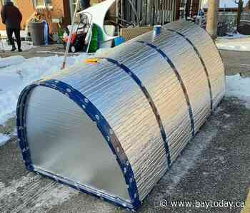 Group getting together to build igloos for the homeless