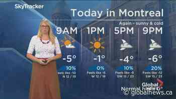 Global News Morning weather forecast: Tuesday December 3, 2019