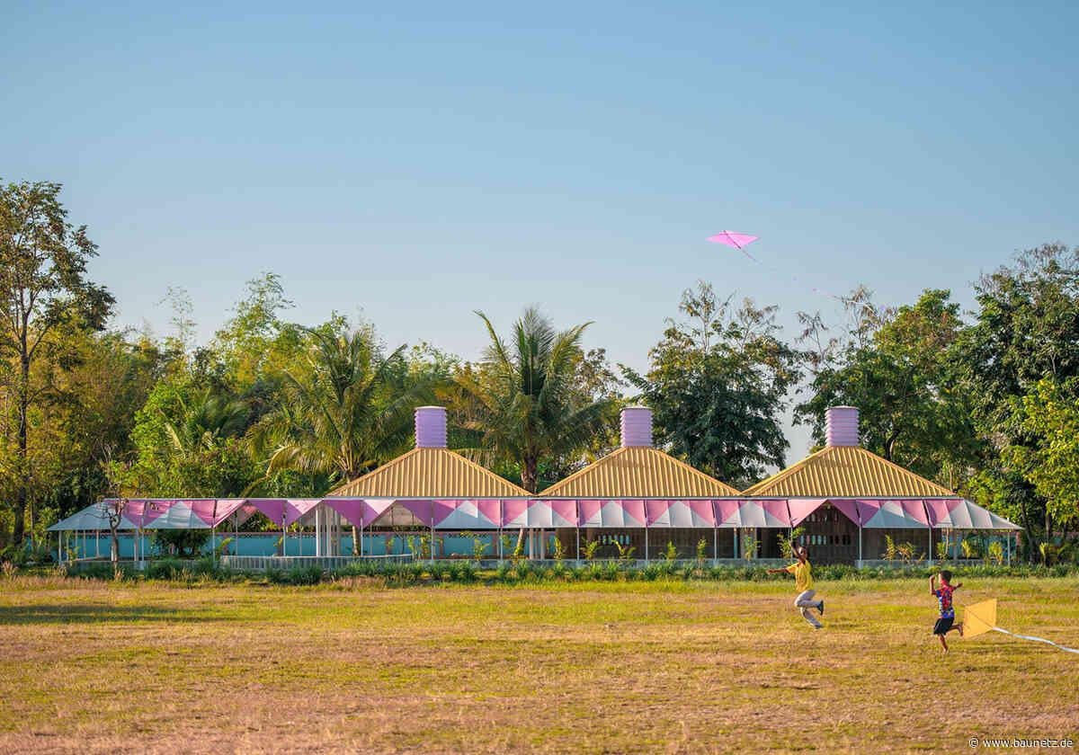 Leichtes Dach zum Spielen  - Design Build Projekt für Kindergarten in Thailand