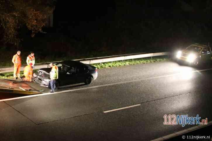 Eenzijdig ongeval op de A28 bij Nijkerk
