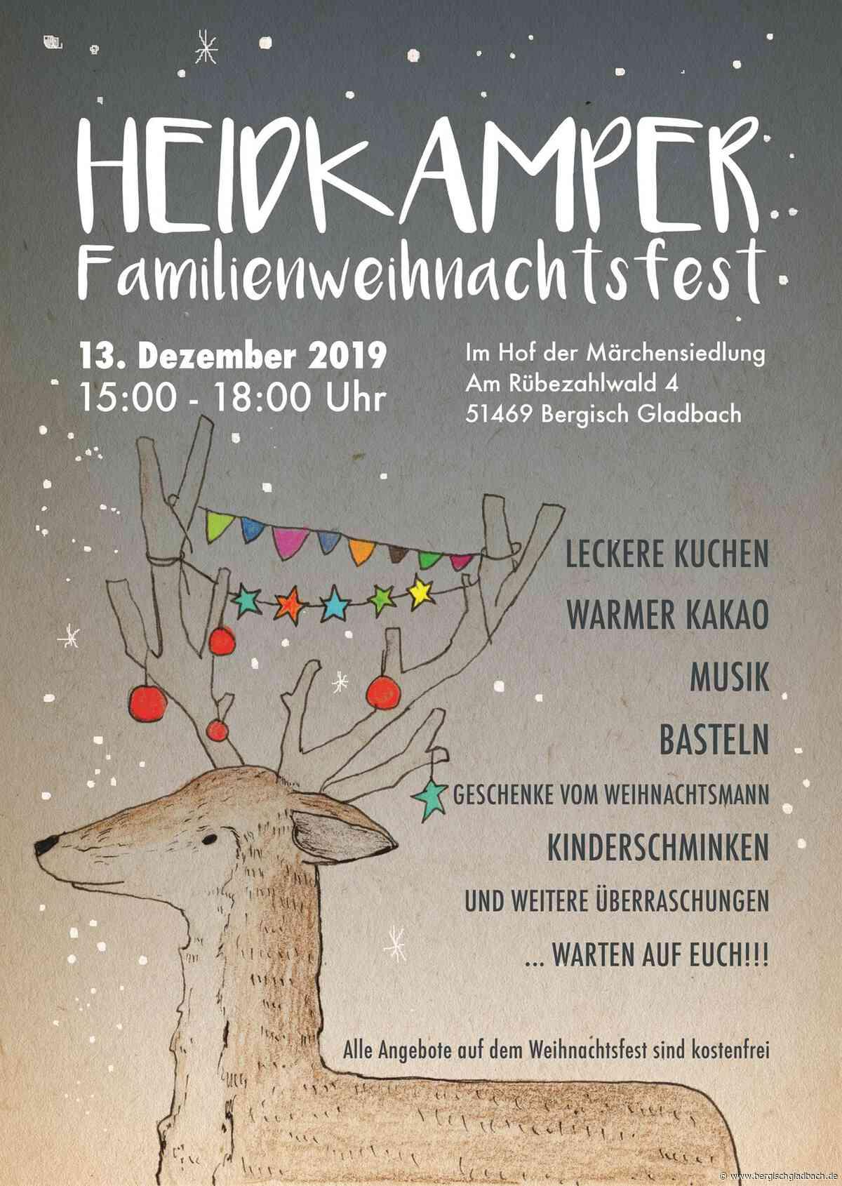 Runder Tisch lädt zum fünften Heidkamper Familienweihnachtsfest – Weihnachtsmann bringt kleine Überraschungen