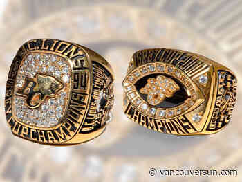 B.C. Lions great accidentally donates pair of Grey Cup rings to charity