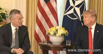 """Trump attacks NATO allies over funding and calls French leader's criticism """"dangerous"""""""