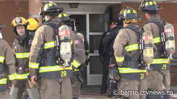 Woman found unconscious during apartment fire airlifted with serious injuries