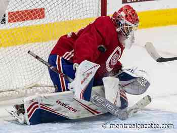 Whirlwind ride to NHL for Canadiens goalie Cayden Primeau