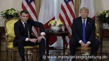 Trump überrascht Macron mit absurder Frage - nach dessen Reaktion verspottet ihn der US-Präsident