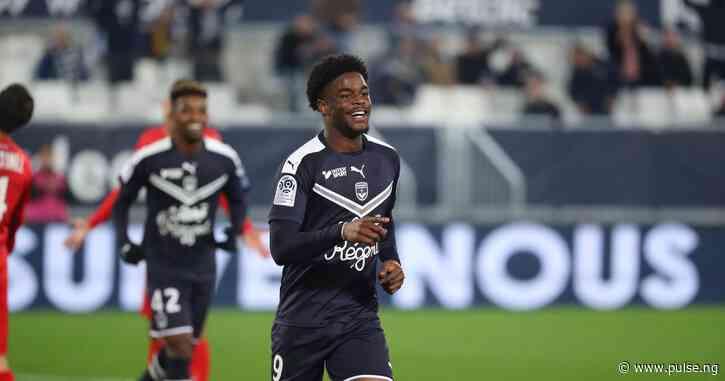 Nigerian striker Josh Maja scores a hat trick as Bordeaux thrash Nimes 6-0 in Ligue 1