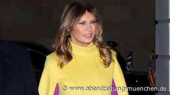 Zum Tee bei den Royals: Melania Trump zieht in London in knallgelbem Cape alle Blicke auf sich