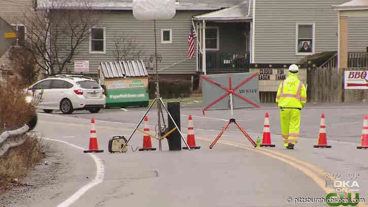 Water Main Break Temporarily Shuts Down Busy Collier Twp. Road