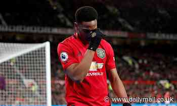 Anthony Martial 'set to miss Manchester United's clash with Tottenham due to muscle injury'