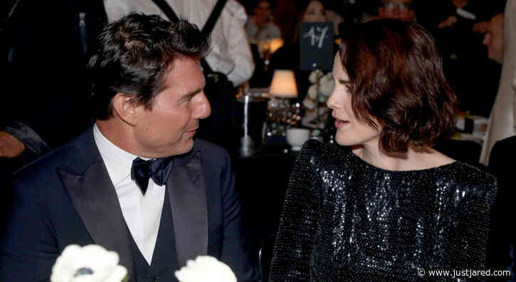 Tom Cruise Chats with Michelle Dockery Over Dinner at Fashion Awards 2019