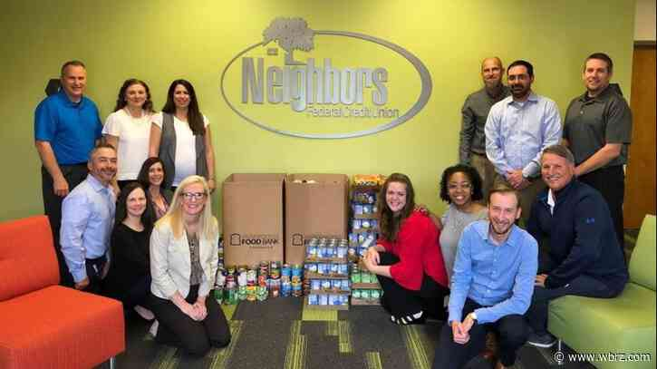 Neighbors FCU employees donate over 1,500 pounds of food to Greater Baton Rouge Food Bank