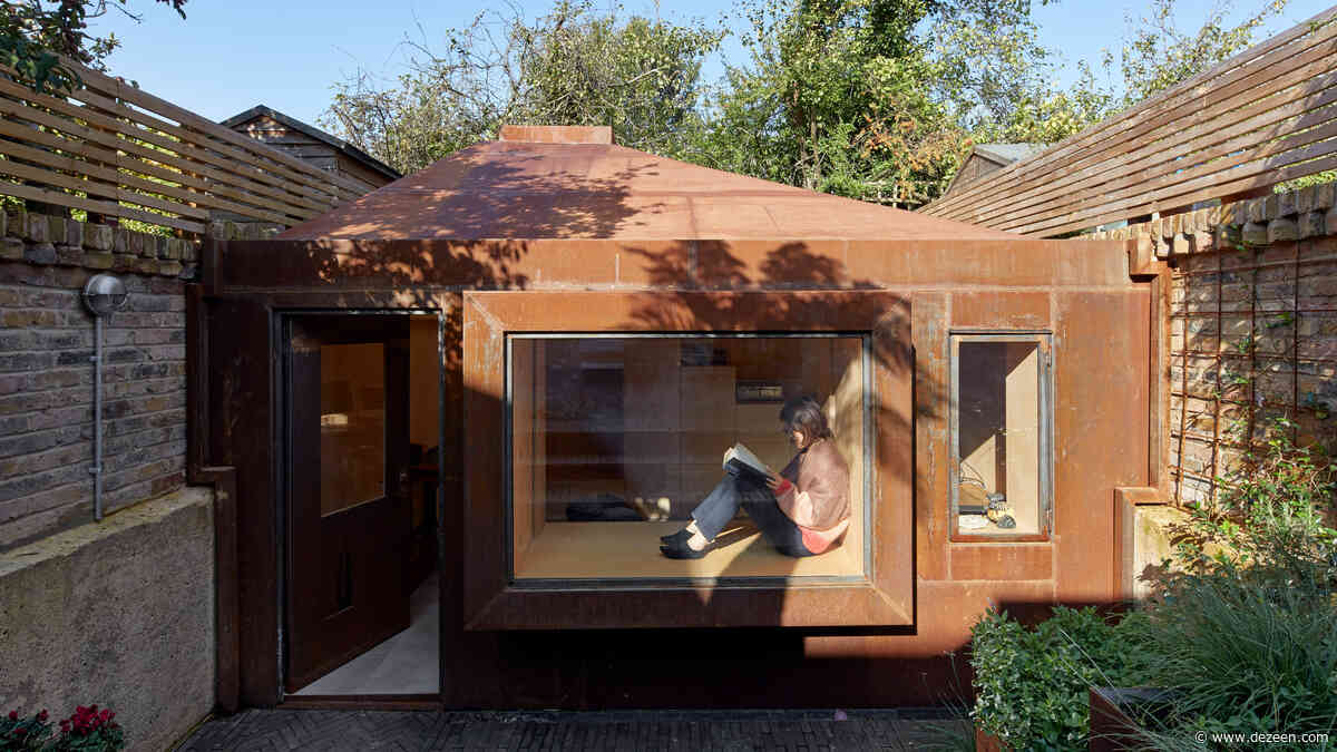 Sunken steel-clad Brexit Bunker built in garden of London house