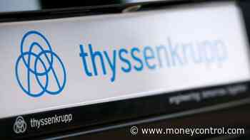 Thyssenkrupp steel workers protest against German job cuts