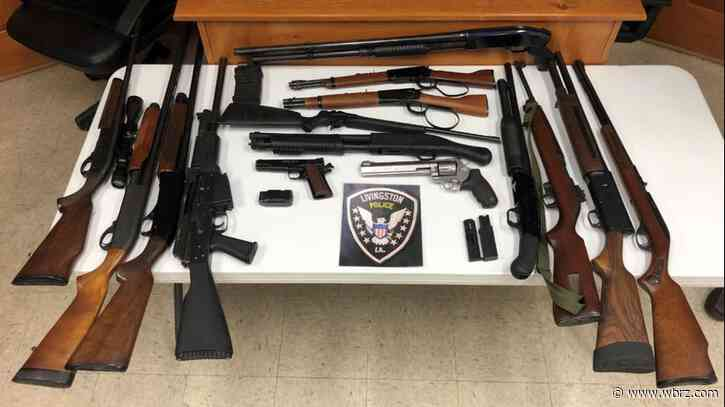 Parish workers caught breaking into Livingston home while on the clock; more than a dozen guns stolen