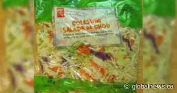 Recall issued for President's Choice coleslaw over possible salmonella