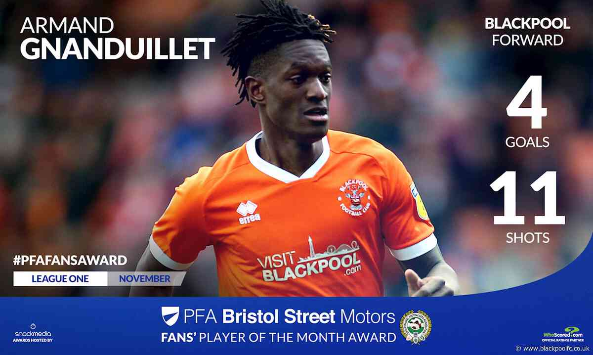 Gnanduillet On PFA Player of the Month Shortlist