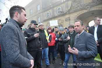 600 Landwirte protestieren in Banz
