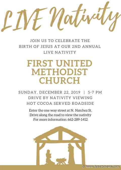 Kosciusko First United Methodist Church to host Live Nativity Sunday, Dec. 22
