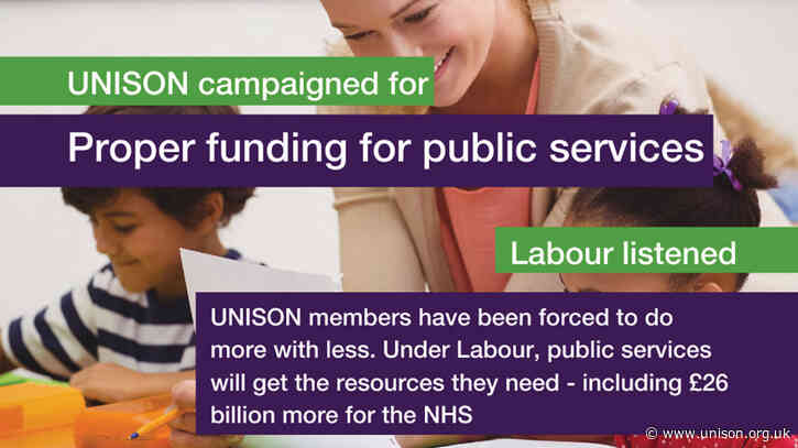12 Labour pledges for public services
