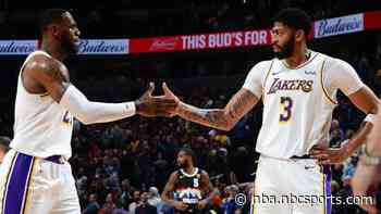 Anthony Davis plays through flu, scores 25, leads Lakers past Nuggets