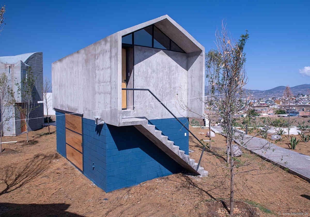 Wohnen in Kreis und Rechteck  - Prototyp in Mexiko von Francisco Pardo