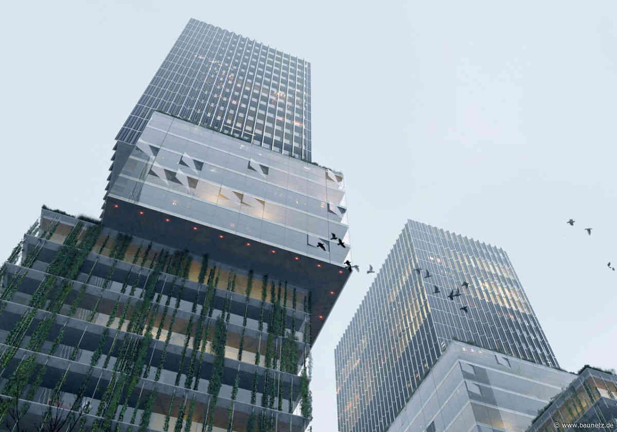 Glaskuben über Streichholzfabrik  - OMA planen für Eindhoven