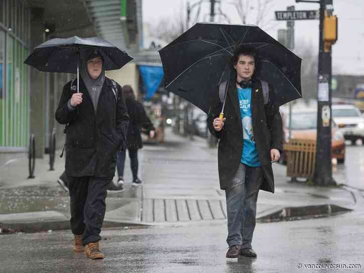Vancouver Weather: Rainy then cloudy